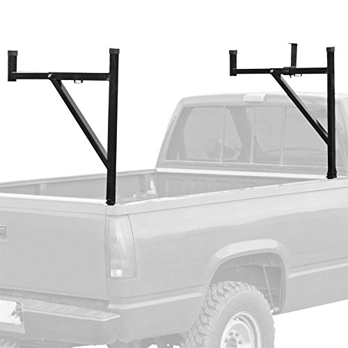 (Pickup Truck Ladder Rack with Removable Support Arms)