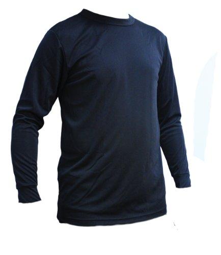 KENYON Men's Silk Weight Thermal Crew Top, Black, Large