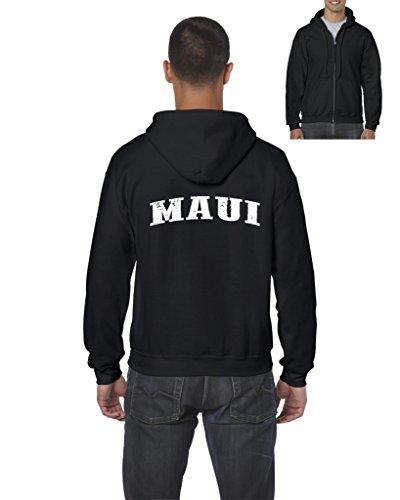 Ugo Maui Hawaii Travel Guide Flag What to do in Hawaii? Beaches Near Me Full-Zip Men's - Maui Friday Deals Black