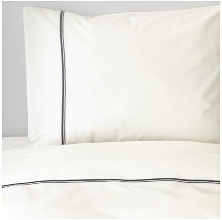 Ikea Parure De Lit 3 Pieces Twin Housse De Couette Blanc Avec Relief Metallique A Rayures Haxort Amazon Fr Cuisine Maison