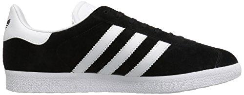 Adidas Mens Gazelle Nubuck Trainers Black White