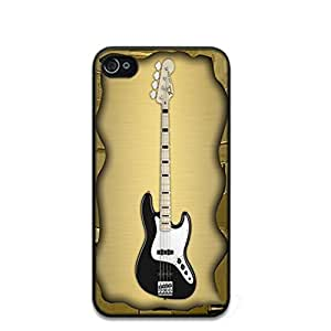 Fender Bass Guitar Collection Pattern Hard Durable Cover Case for Apple iPhone 4 4S