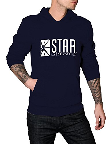 Adult Star Laboratories Hoodie (Large, Navy Blue)