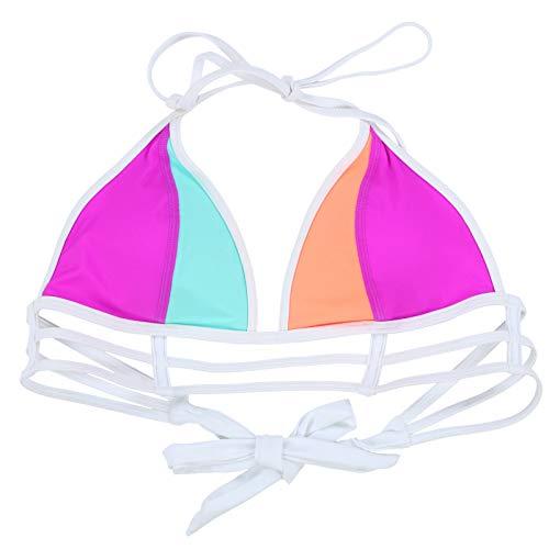 Victoria's Secret PINK Colorblock Triangle Bikini Top Medium Multicolor