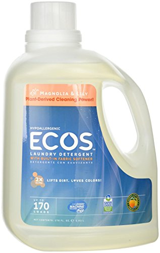 (Earth Friendly Products Ecos Liquid Laundry Detergent, Magnolia and Lilies, 170 fl. Ounce)