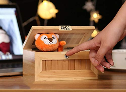 Abrrow Useless Box Fully Assembled Leave Me Alone Machine Turns Itself Off Best Gifts Endless Fun (Cute Tiger - AA) by Abrrow (Image #6)