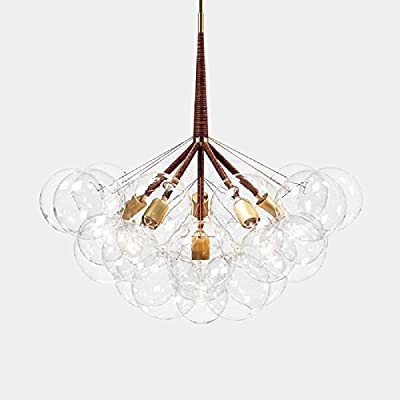 60W Artistic Modern Chandeliers Chandelier Pendant with 3 Lights in 9 Glass Bubble Design Modern Home Ceiling Light Fixture Flush Mount Pendant Light Chandeliers Lighting
