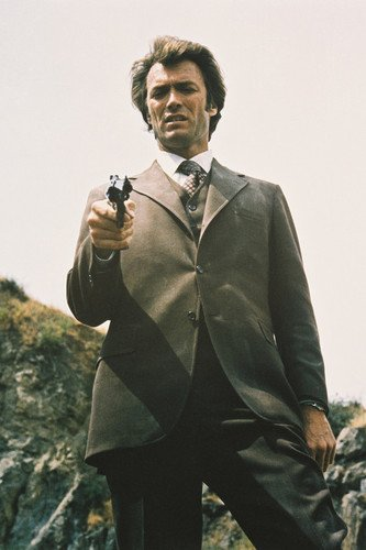 Moviestore Clint Eastwood als Insp. 'Dirty' Harry Callahan in Dirty Harry 91x60cm Farb-Posterdruck