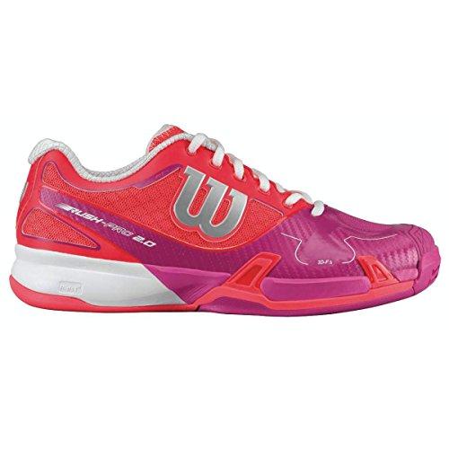 Adulto Rosa Unisex Zapatillas W 2 Pro Tenis Wilson Rush Rojo de Blanco 0 zaF4cTxq