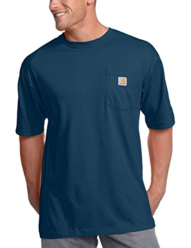 Carhartt Men's K87 Workwear Pocket Short Sleeve T-Shirt (Regular and Big & Tall Sizes), Navy, 2X-Large/Tall (Best Friend Shirts For Sale)