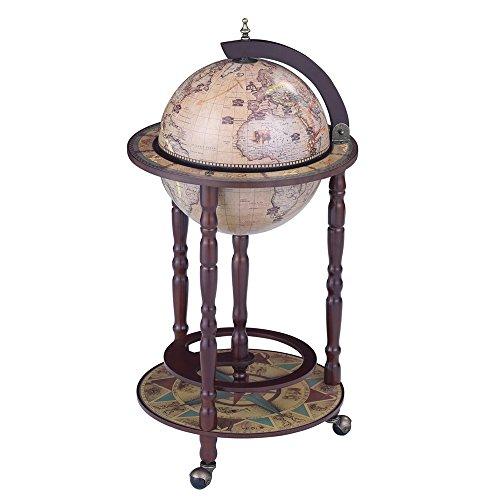 dBass Sixteenth-century Italian Replica New Version Global Bar Floor Stand Wine Rack, (Italian Bar Table)