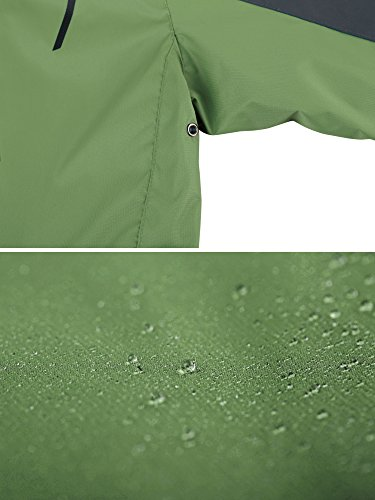 Erba Mezza Verde da Sport Sci Wantdo Leggera Antivento Stagione Donna Impermeabile Giacca Cappuccio RPq87P