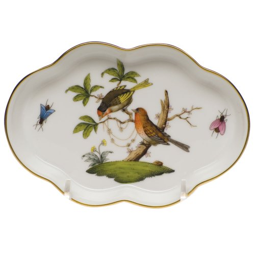 Herend China Rothschild Bird Scalloped Tray