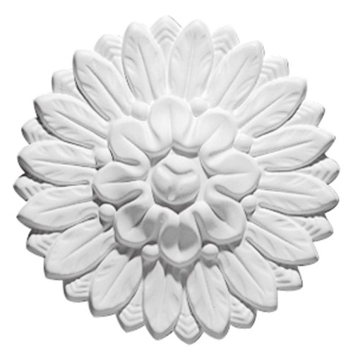 Focal Point 85031 Small Chantilly Rosette 5 1/2-Inch Diameter by 1 5/8-Inch Projection, Primed White