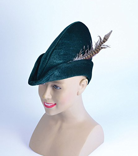 Adult Medieval Middle Ages Green Felt Archer Hat - DeluxeAdultCostumes.com 752e0f17ecd