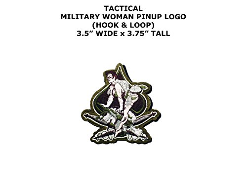 Pin Up Costume Diy (Military Woman Pinup Logo DIY Embroidered Iron or Sew-on Applique Patch Outlander Gear)
