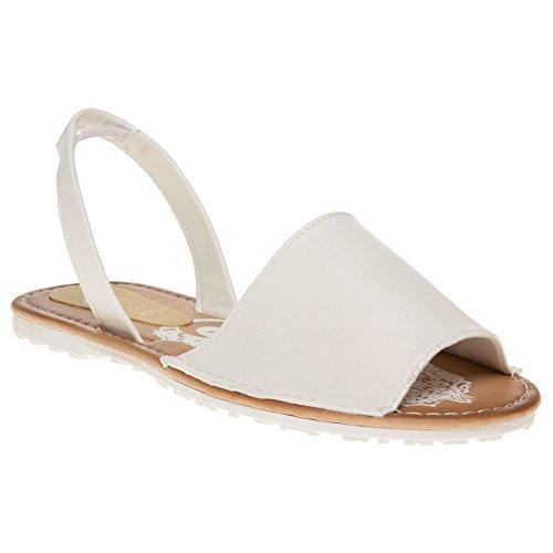 Sole Yeast Damen Sandalen Weiß