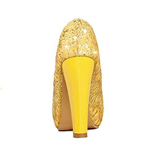 Escarpins Enfiler yellow Femmes TAOFFEN a qwTRC4