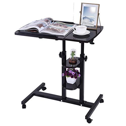 - Sodoop Folding Computer Desk, Height Adjustable Student Laptop Desk and Mouse Desktop, Can Be Raised and Lowered Folding Computer Desk with Wheels for Home Office,64cm40cm