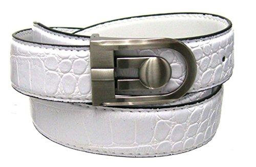 White Crocodile Belt (Men's 1.38