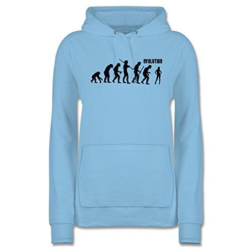 Hellblau Tänzerin - Evolution Hoodie Shirtracer Damen