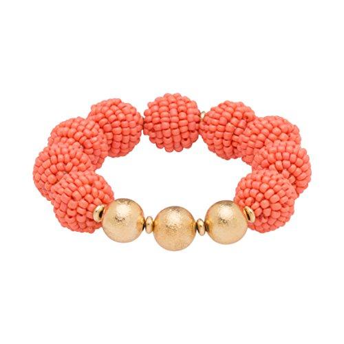 Occasionally Made Seed Bead Ball Stretch Bracelet Photo Print ()
