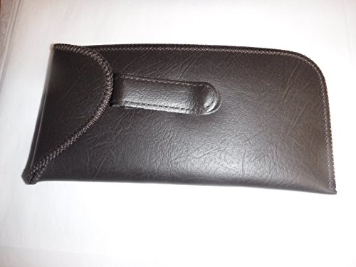 Useful Practical Eyeglass Cases ! Vintage Style (Pocket Clip Eyeglass case with Flap, Brown)