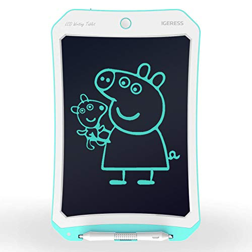 Lcd 10 Screen - IGERESS Newest 10 inch Blue LCD Writing Tablet Board Drawing Tablet Board with More Thickness Writing Footprint Screen for Kids and Adults' Learning, Entertainment and Working(Blue) …