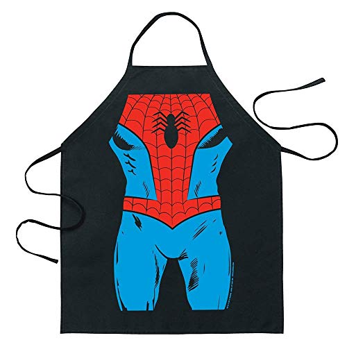 Satisfounder Spider-Man Comic Cartoon Hero Apron Kitchen Cooking Aprons BBQ Apron (Spider-Man)