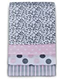 Carter's 4 Pack Wrap Me Up Receiving Blanket, Pink Cheetah (Discontinued by Manufacturer)