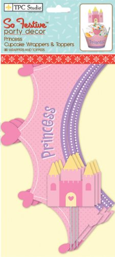 Cupcake Wrappers And Toppers 8/Pkg-Princess