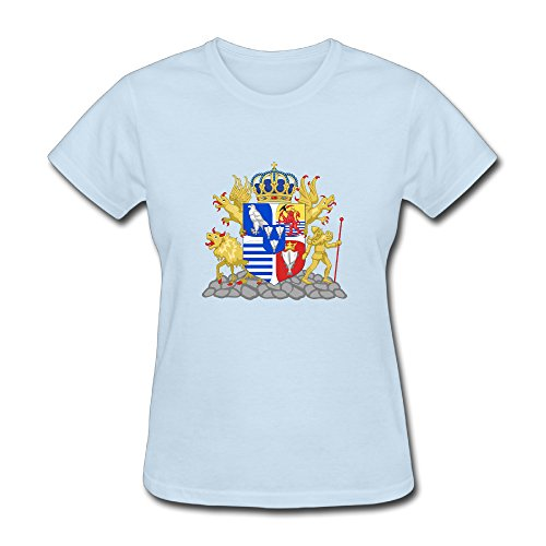 kingdom-of-iceland-coat-of-arms-fun-t-shirt-for-women-s-o-neck-skyblue