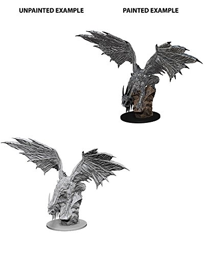 WizKids Pathfinder Roleplaying Game Unpainted Miniatures: Silver Dragon ()
