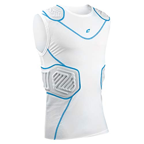 (CHAMPRO Bull Rush Football Compression Shirt w Cushion System)