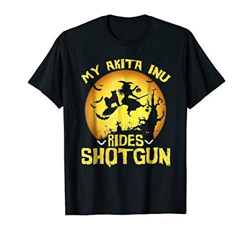 My NIKITA INU Rides Shotgun T-Shirt Halloween Gift