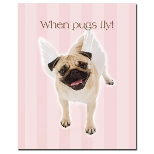When Pugs Fly by Gifty Idea Greeting Cards and Such, 26x32-Inch Canvas Wall Art (Cards Greeting Gifty Idea)