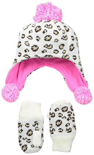 The Children's Place Little Girls and Toddler Leopard Pom Pom Set, Cloud, Large/4T-5T