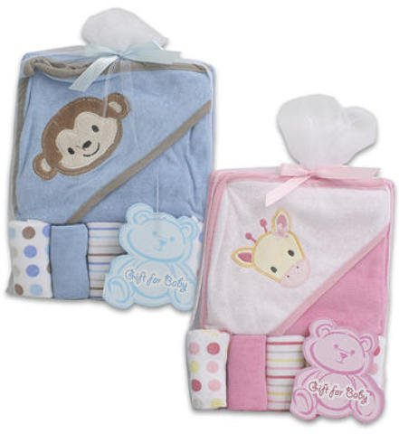 6 Pc Baby Gift Set Pink Blue Towel Washcloths 36 pcs sku# 1458852MA
