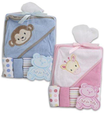 6 Pc Baby Gift Set Pink Blue Towel Washcloths 36 pcs sku# 1458852MA by DDI