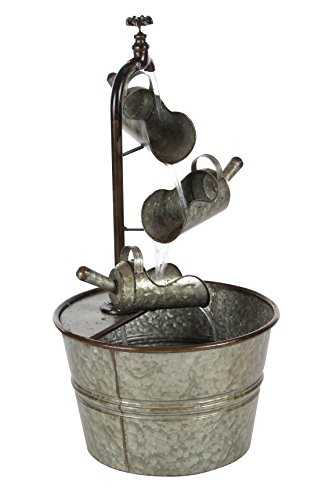 Benzara Metal Tabletop Garden Fountains Bm117973 Benzara Winsome Metal Water Fountain 15 X 28 X 15 Inches Multicolored