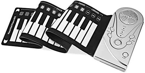 ZYK Roll Up PianoElectronic 88 Keys Portable Piano Upgraded Silicone Touch Panel KeyboardRecording Built-in USB Rechargeable for Beginners Gift (Color : Silver) / ZYK Roll Up PianoElectronic 88 Keys Portable Piano Upgraded Silicone...