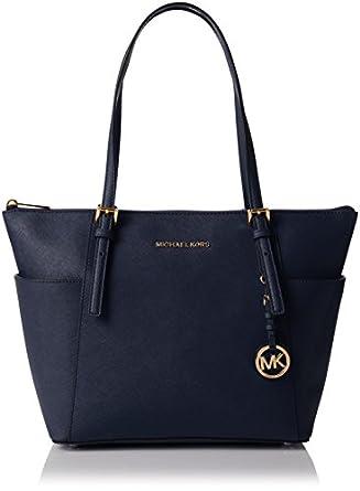 Michael Michael Kors Jet Set Leather East/West Tote: Handbags ...
