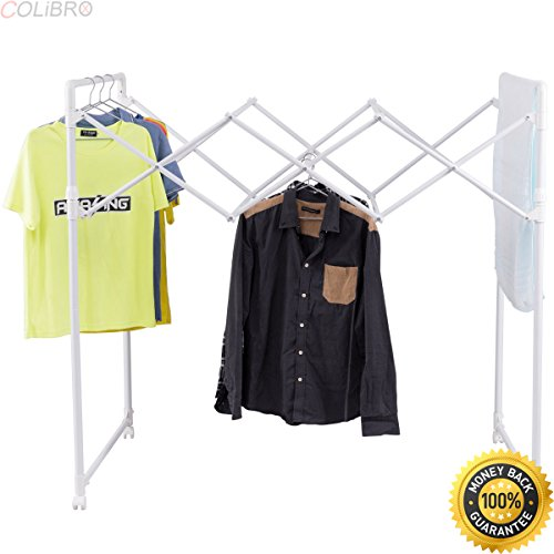 COLIBROX--Folding Drying Rack Rolling Laundry Clothes Hanger