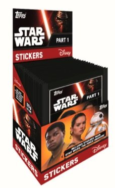 - Star Wars 2016 Topps The Force Awakens Album Sticker Box. 50 Packs per Box. 5 Sticker per Pack. 250 Total Stickers!!