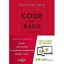 CODE DES BAUX 2016 COMMENTE