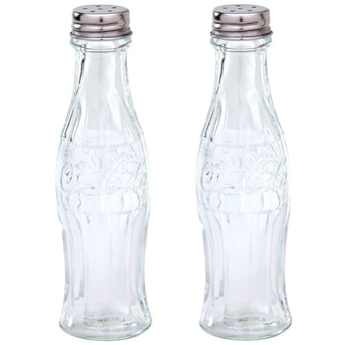 Coca Cola Glass Salt Pepper Shakers