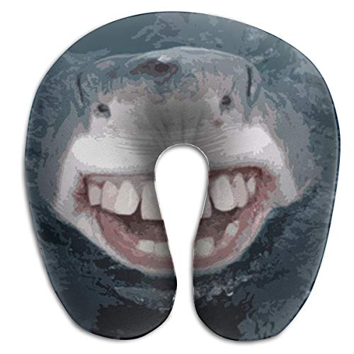 Shark with Fake Teeth Team Rest for Airplanes Travel Neck Pillow Comfort and Convenience Sleeping Neck Pain U Shaped Pillow for Outdoors Car Office Home Travel Neck Pillow -
