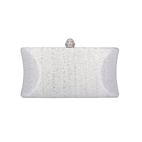 Prom Women's Silver Party Saturn Hardcase Bag of Stylish Cut Day Clutch Out tqBFw1EU