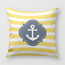 Densiy Home Decor Decor Throw Pillows,Yellow, Blue,Pillow Cushion Cover