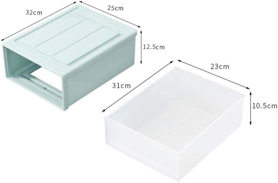 grau Homieco 2 Layer Closet Box Brust Kunststoff transparent Schublade Teiler Kommode Unterw/äsche Socke Veranstalter Kleiderschrank Aufbewahrungsboxen
